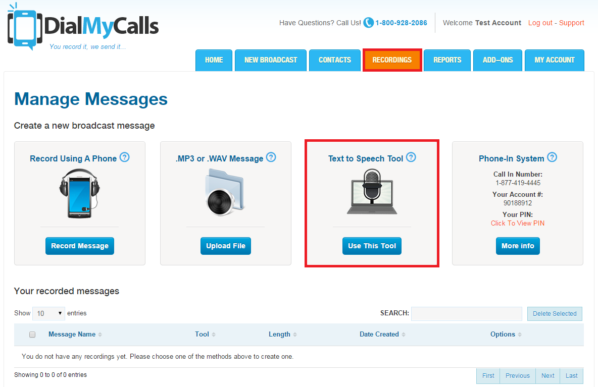 Send High Quality Text To Speech Recordings Dialmycalls