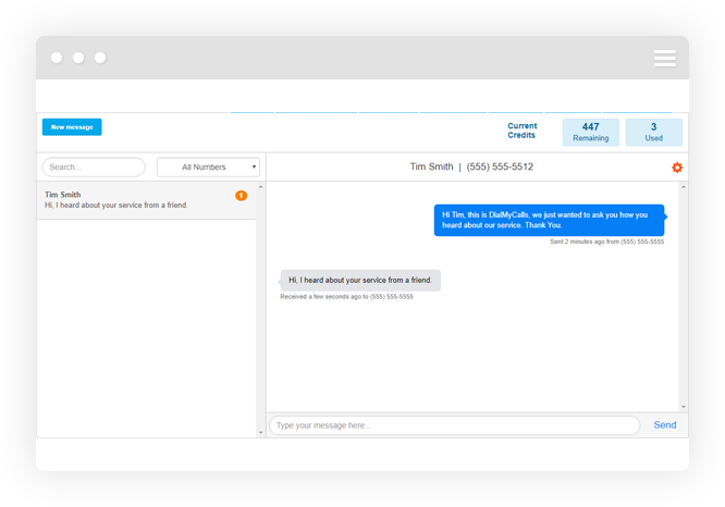 Real-time Text Message Replies