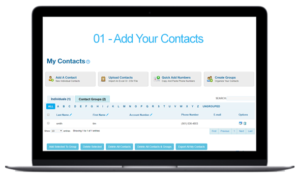 How It Works - Add Contacts