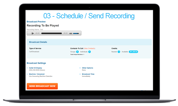 How It Works - Schedule / Send Recording