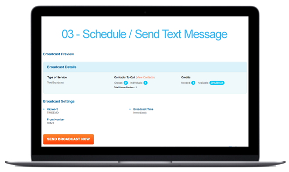 How It Works - Schedule / Send Text Message