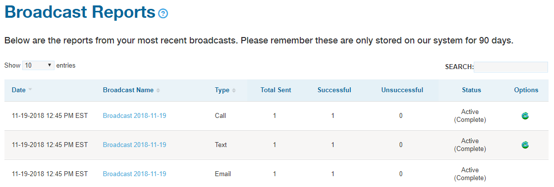 Broadcast Reports - DialMyCalls Version 3.0