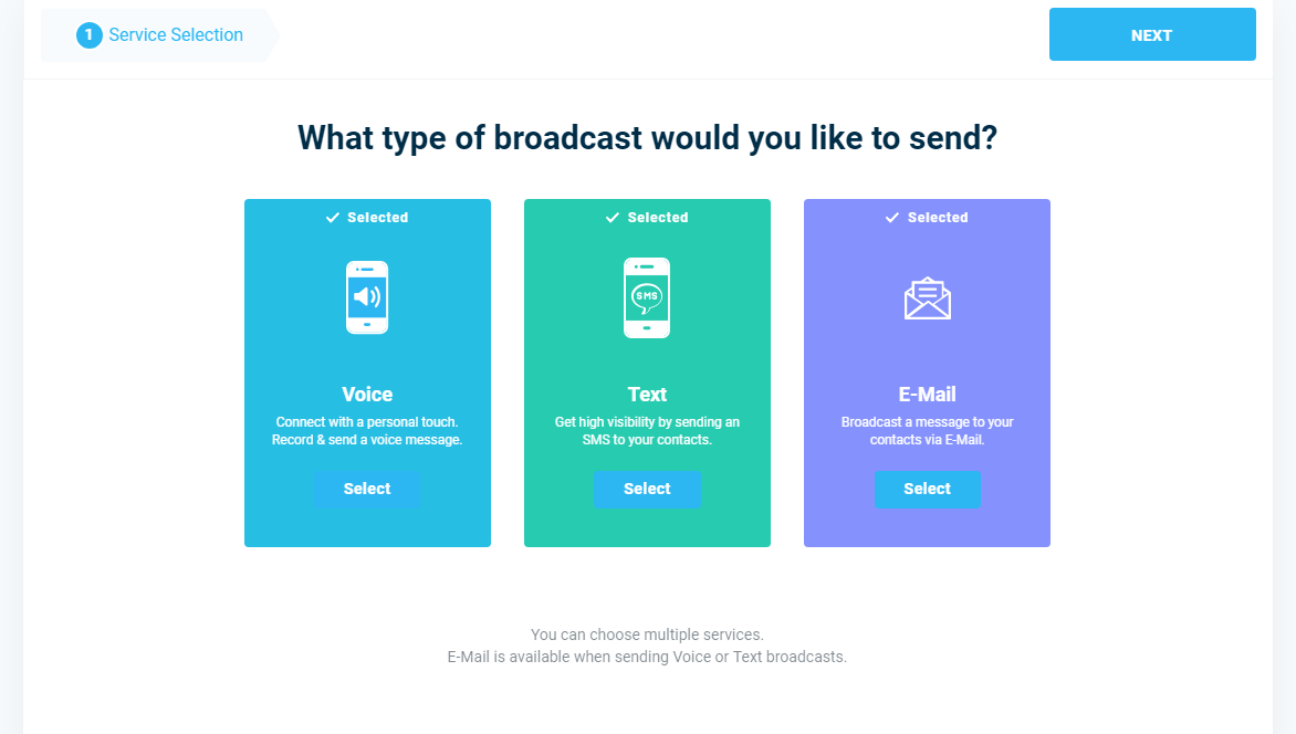 Message Broadcast - DialMyCalls