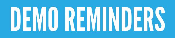 Demo Reminders