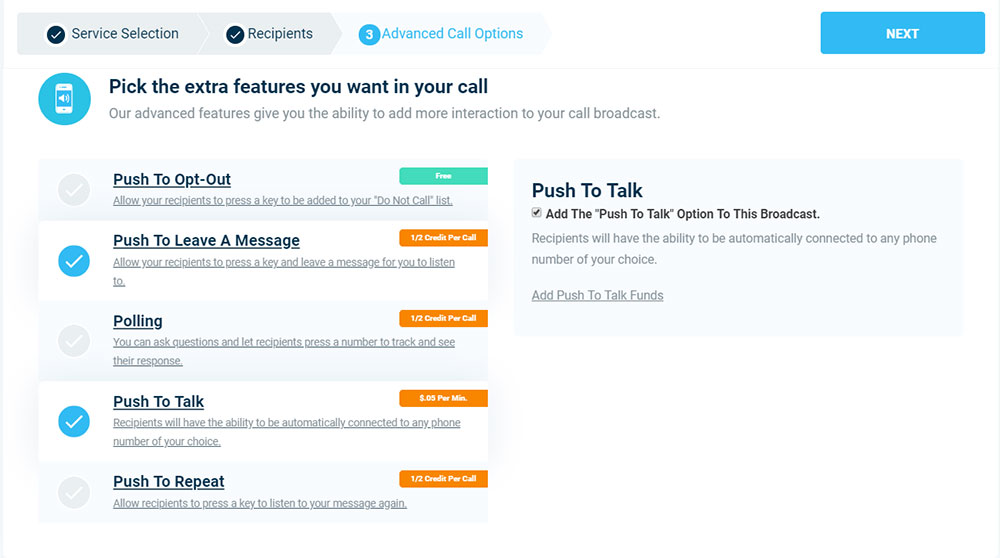 Advanced Calling Features - Automated Volunteer Calls & Texts