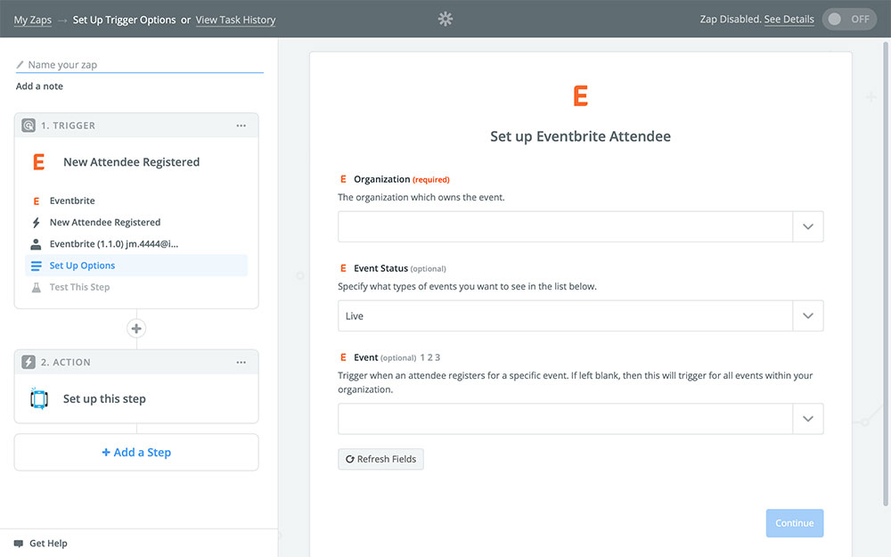 DialMyCalls + Eventbrite Integration