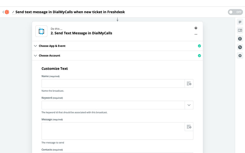 DialMyCalls + Freshdesk Integration