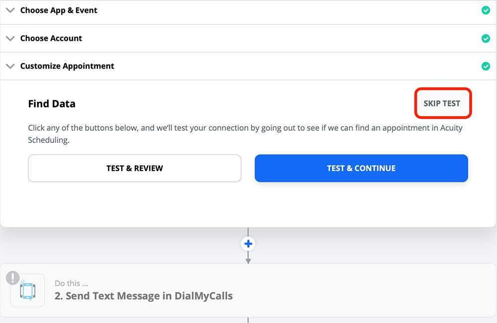 DialMyCalls + Acuity Scheduling Integration