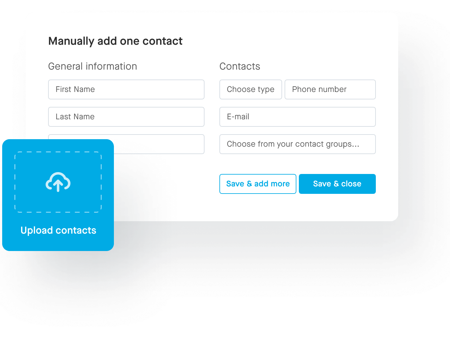 Adding contacts screen illustration