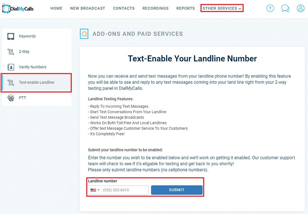 How to Text-Enable Your Existing Landline Number - DialMyCalls