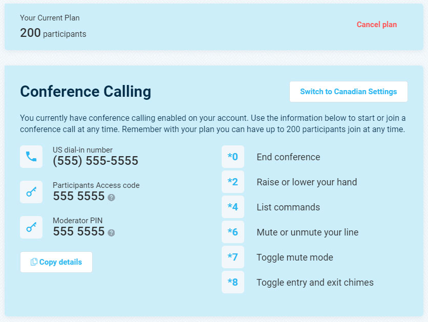 Conference Call Service - Call-in Information