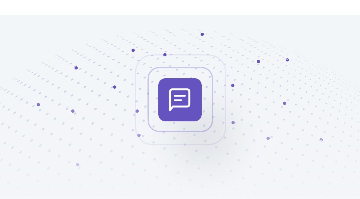 purple messaging icon