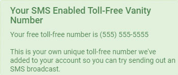 SMS Enabled Toll-Free Vanity Number - DialMyCalls
