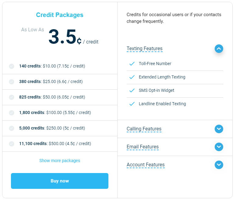 Pay-As-You-Go Credit Package - DialMyCalls