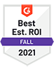 G2 Best Est. ROI (Fall 2021) - DialMyCalls